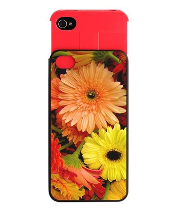 Postcard Flowers Wallet Case for iPhone 4/4s