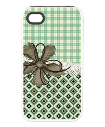 Green Plaid Tough Case for iPhone 4/4s