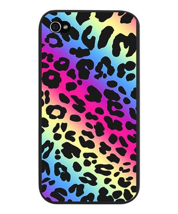 Neon Leopard Print Snap Case for iPhone 4/4s