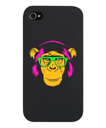 Neon Yellow Hipster Chimp Snap Case for iPhone 4/4s