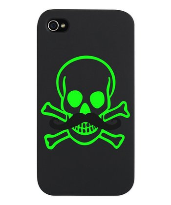Green Mustache Skull Snap Case for iPhone 4/4s