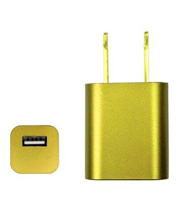 Gold 1000-mAh USB Port Charger