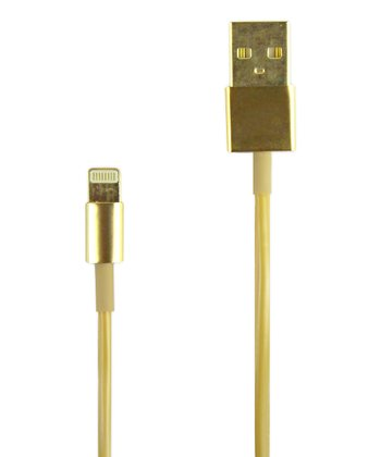 Golden Lightning Charger & Sync Cable for iPhone 5/5s/5c