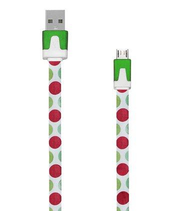 Polka Dot Micro-USB Charging/Data Sync Cable