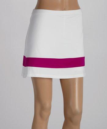 Peachy Tan White & Magenta Skirt - Women