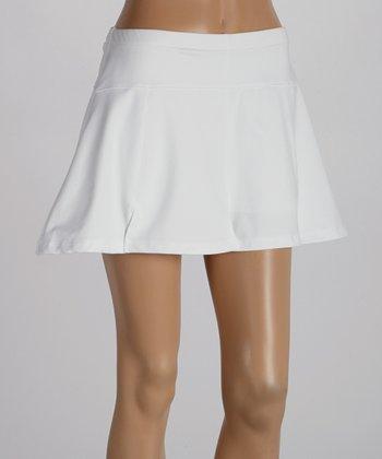 Peachy Tan White Sylvia Paneled Skirt - Women
