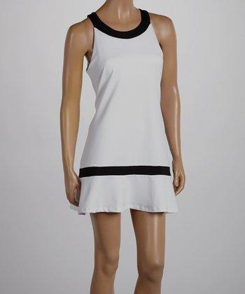 Peachy Tan White & Black Ramona Dress - Women