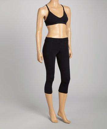 Gigi Active Black Collar Sports Bra - Women