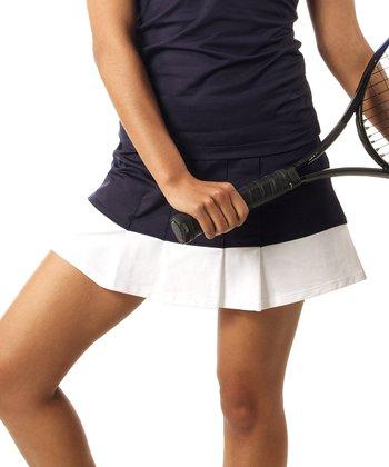 Smashing Navy & White Emma Shape & Slim Tennis Skort - Women