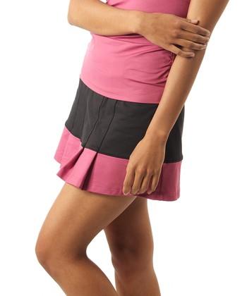 Smashing Black & Pink Emma Shape & Slim Tennis Skort - Women