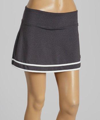 FILA Charcoal Heather Collezione Flirty Skirt - Women