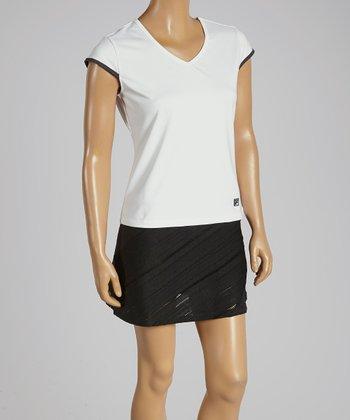 FILA White Collezione Cap-Sleeve Top - Women