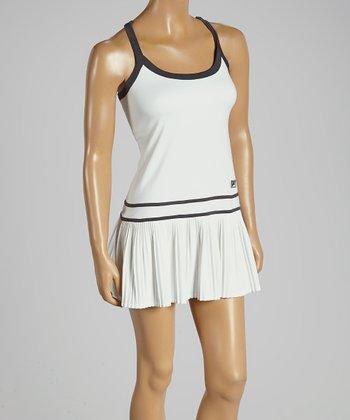 FILA White Collezione Pleated Dress - Women