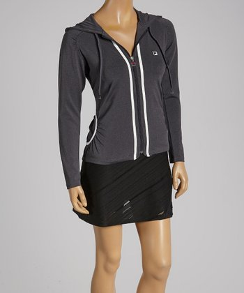 FILA Charcoal Gray Collezione Hooded Jacket - Women