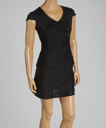 FILA Black Collezione Cap Sleeve Top - Women