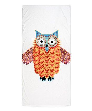 Blue & Red Owl Beach Throw