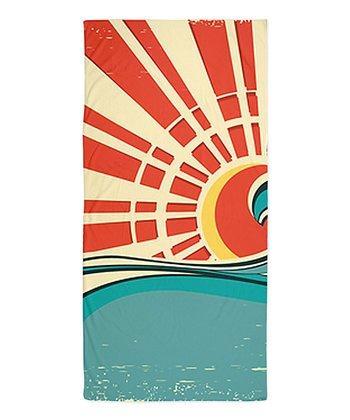 Red & Blue Sun Beach Throw