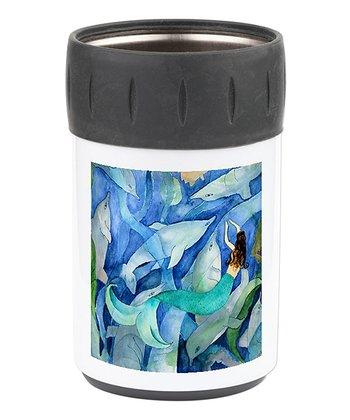 Blue & Black Mermaid Can Sleeve