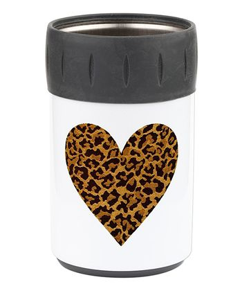 Brown & Black Heart Can Sleeve