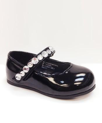 Josmo Black Patent Embellished Mary Jane