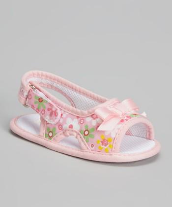 Laura Ashley Pink Floral Sandal