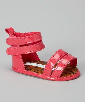 Laura Ashley Fuchsia Patent Gladiator Sandal