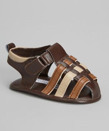 Joseph Allen Brown & Beige Closed-Toe Sandal