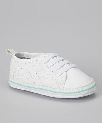Joseph Allen White & Mint Quilted Sneaker