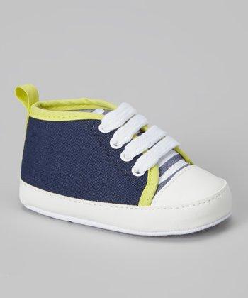Joseph Allen Navy & Yellow Sneaker