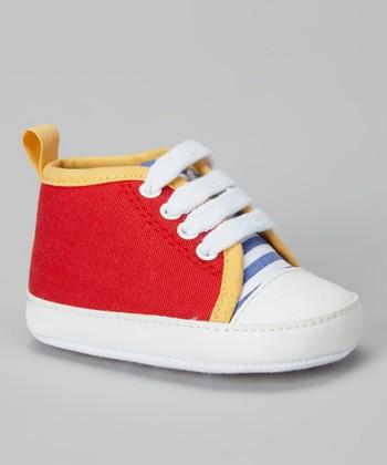 Joseph Allen Red & Gold Sneaker