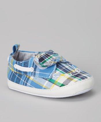 Joseph Allen Blue Plaid Sneaker