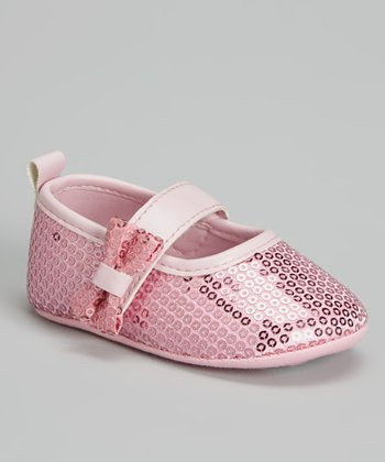 Laura Ashley Pink Sequin Mary Jane