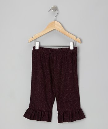 Larkspur Seedling Plum Capri Flair Pants - Toddler & Girls