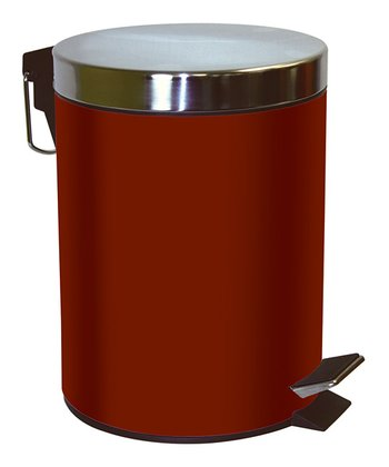 Burgundy 5-L Step Waste Bin