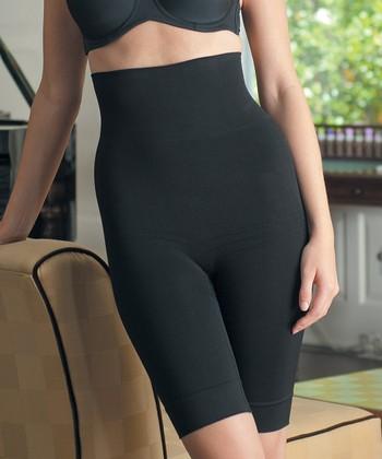 Black High-Waist Long Control Shorts - Women
