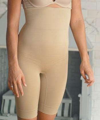 Nude High-Waist Long Control Shorts - Women & Plus