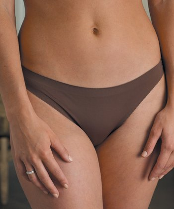 Chocolate Seamless Thong - Women & Plus