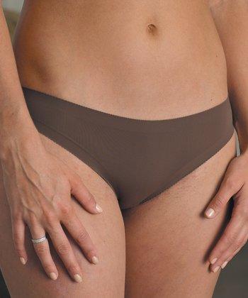 Chocolate Seamless Bikini Briefs - Women & Plus