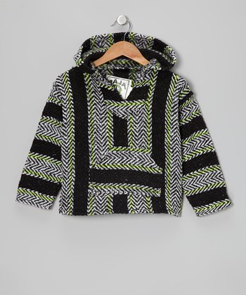 Charcoal & Lime Baja Hoodie - Toddler & Kids