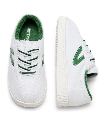 White & Fairway Green Nylite Sneaker - Infant