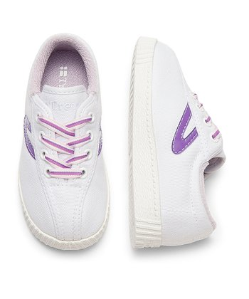 White & Hyacinth Nylite Sneaker - Infant
