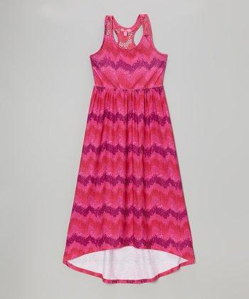 Fab Fuchsia Ikat Maxi Dress - Infant, Toddler & Girls