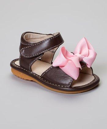 Laniecakes Brown Add-A-Bow Squeaker Sandal