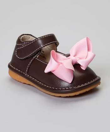 Laniecakes Brown Add-A-Bow Squeaker Mary Jane