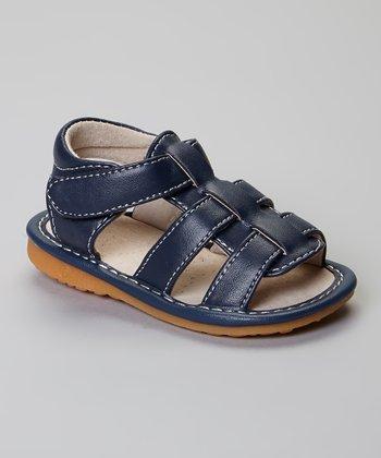 Laniecakes Navy Brycen Squeaker Sandals