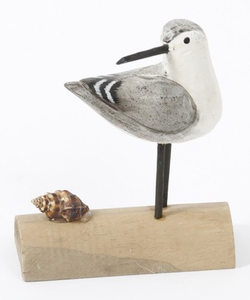 Perched Bird & Seashell Figurine