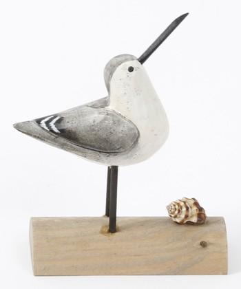 Looking Upward Bird & Seashell Figurine