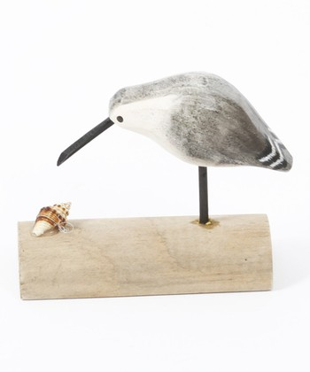 Dreamy Gaze Bird & Seashell Figurine