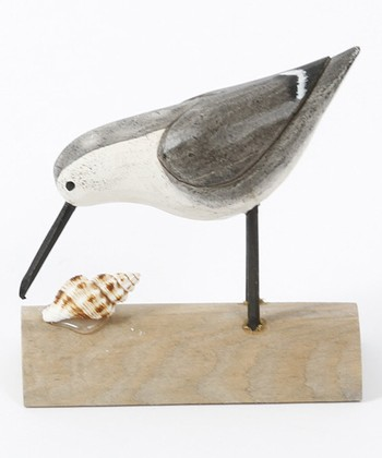Looking Downward Bird & Seashell Figurine