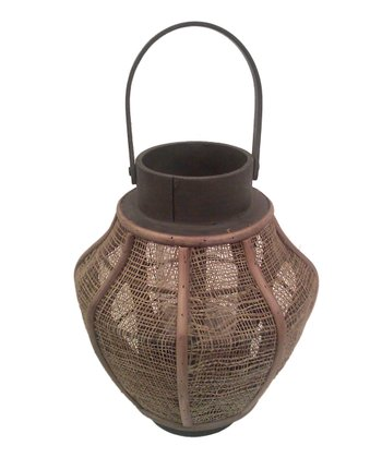 Hanging Conical Jute Lantern